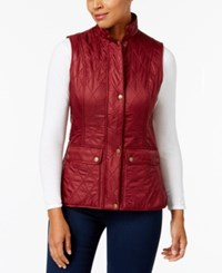 Barbour Wray Quilted Vest Carmine