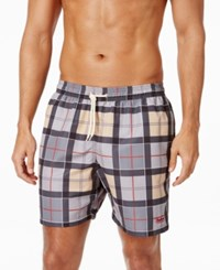 Barbour Men's Lomond Tartan Swim Trunks Dress