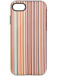 Paul Smith Black Label Striped Iphone 7 8 Case Yellow And Orange