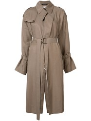 Y's Belted Trench Coat Nude Neutrals