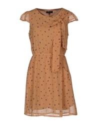 Cutie Dresses Short Dresses Women Brown