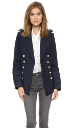 Smythe Military Pea Coat Dark Navy