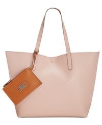 Style And Co Co. Clean Cut Reversible Tote With Wristlet Only At Macy's Dusty Pink Luggage