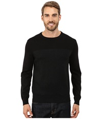 Perry Ellis Color Block Crew Beck Sweater Black Heather Men's Sweater