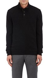 Ermenegildo Zegna Women's Suede Trimmed Cashmere Sweater Brown