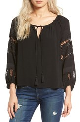 Astr Women's Crochet Blouse