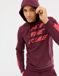 Blend Of America Fly The Flag Hoodie Co Ord 73812 Wine Red