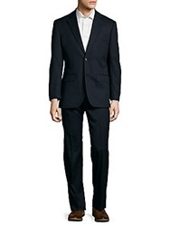 Tommy Hilfiger Tailored Trim Fit Wool Suit Navy