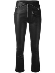 Rta Skinny Trousers Women Lamb Skin 25 Black