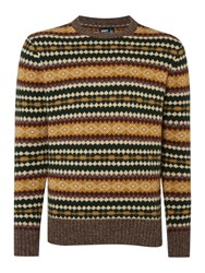 Army And Navy Ringo Pattern Crew Neck Pull Over Jumper Bark