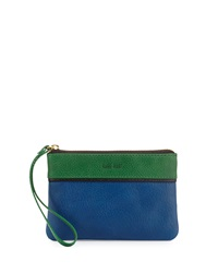 Hare Hart Pocket Wristlet Pouch Royal Blue Hunter Green