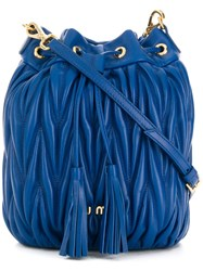 Miu Miu Quilted Bucket Bag Blue
