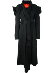 Vivienne Westwood Red Label Asymmetric Belted Coat Black