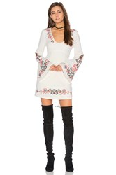 Free People Holiday Folk Mini Dress White
