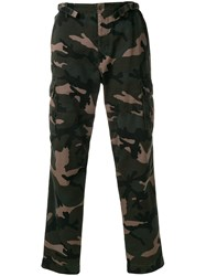 Valentino Camouflage Cargo Trousers Green