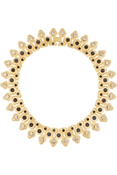 Lele Sadoughi Stone Garland Gold Plated Crystal Marble And Howlite Necklace