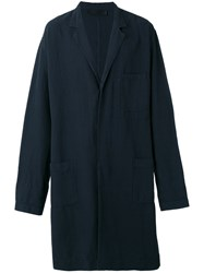 Haider Ackermann Oversized Belted Coat Blue