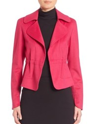 Akris Punto Wool And Angora Drawstring Waist Jacket Pink
