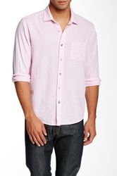 Toscano Chambray Long Sleeve Regular Fit Shirt Pink