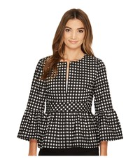 Nanette Lepore Check In Jacket Black Ivory Women's Coat