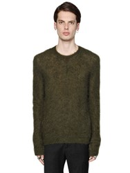 N 21 Brushed Mohair Knit Sweater