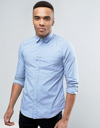Esprit Slim Fit Button Down Shirt In Light Blue Light Blue