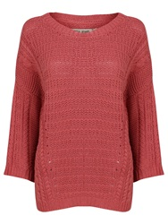 Garcia Women Crochet Top Pink