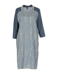 Lorena Antoniazzi Knee Length Dresses Slate Blue