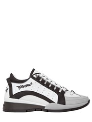 Dsquared 30Mm Two Tone Leather Sneakers