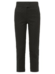 Rebecca Taylor Cotton Blend Jacquard Trousers Black