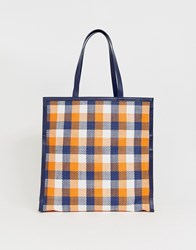 Whistles Clyde Paper Weave Tote Bag Multi