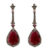 Annoushka Ooak Rose Gold Garnet Earrings Female