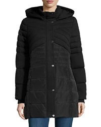 Catherine Catherine Malandrino Quilted Hooded Puffer Jacket Black