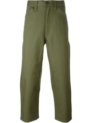 Junya Watanabe Comme Des Gara Ons Man Tapered Cropped Trousers Green