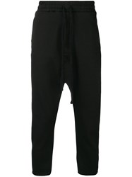 Thom Krom Cropped Pull On Trousers Black
