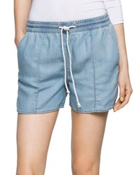 Ck Calvin Klein Four Pocket Denim Shorts Worn Light