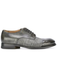 Silvano Sassetti Woven Derby Shoes Grey