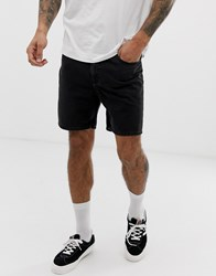 Cheap Monday Slim Fit Denim Shorts In Black