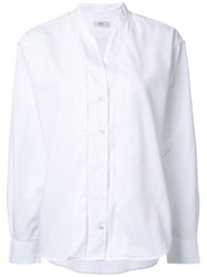 Closed Mandarin Collar Shirt White