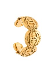 Chanel Vintage Paris Coin Cuff Metallic