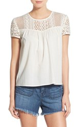 Women's Hinge Lace Yoke Cotton Top