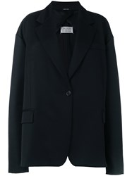 Maison Martin Margiela Elongated Sleeve Short Coat Women Cotton Cupro Viscose Wool S Black