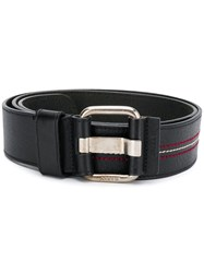 Bally Adjustable Stitching Detail Belt 60