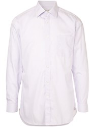 Gieves And Hawkes Classic Fitted Shirt Pink And Purple