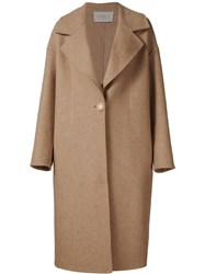 Grey Jason Wu Single Breasted Long Coat Brown