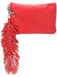 P.A.R.O.S.H. Coral Clutch Bag Red