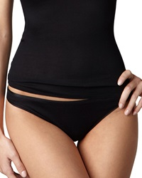 Hanro Cotton Seamless High Cut Briefs Black Black Small