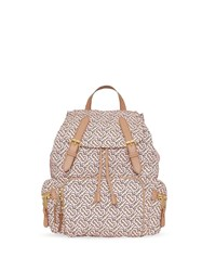 Burberry The Medium Rucksack In A Monogram Print Neutrals