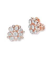 Anne Klein Cluster Stud Earrings Pink