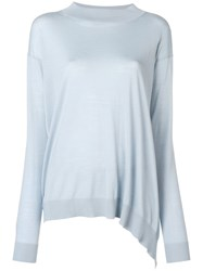 Stella Mccartney Asymmetric Longline Sweater Blue